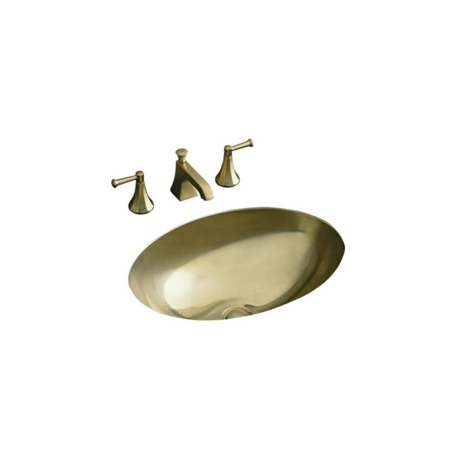 Kohler Rhythm Satin Bronze Stainless Steel Undermount Oval