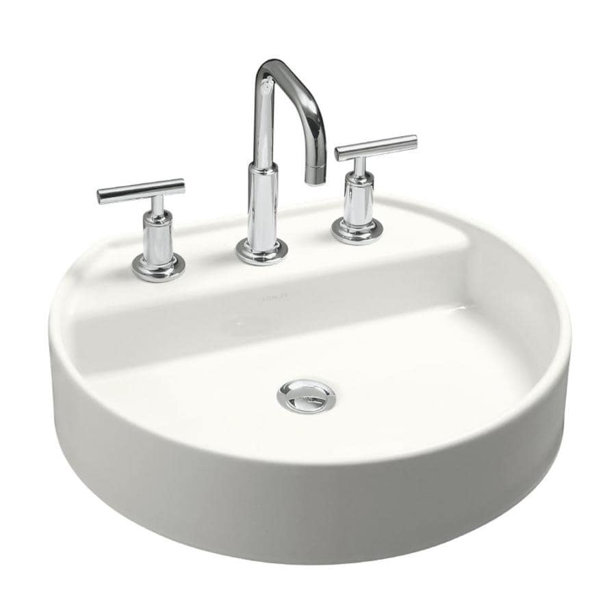 KOHLER Chord White Drop-in Oval Bathroom Sink