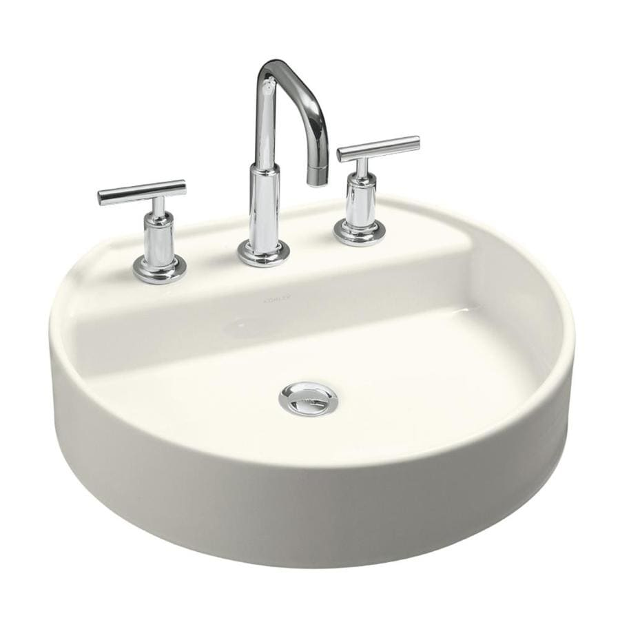 KOHLER Chord Biscuit Drop-in Oval Bathroom Sink