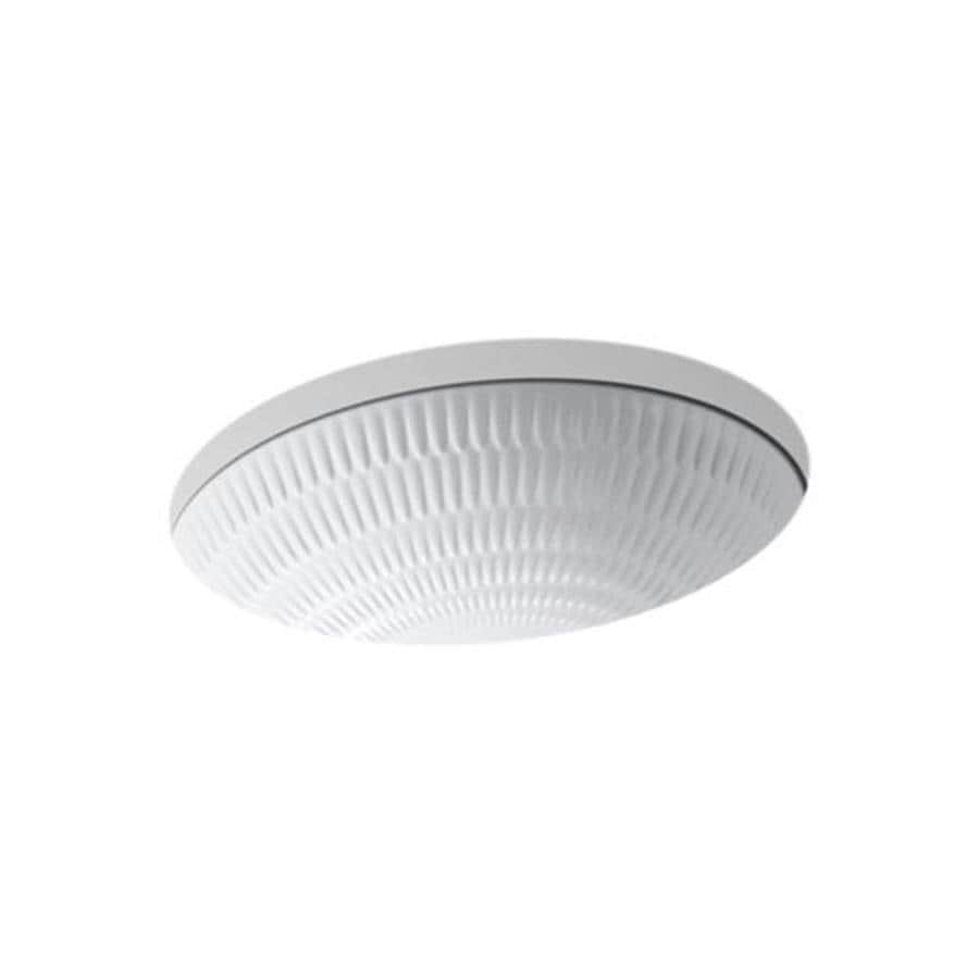 KOHLER Artist Edition Ricochet White Undermount Oval Bathroom Sink