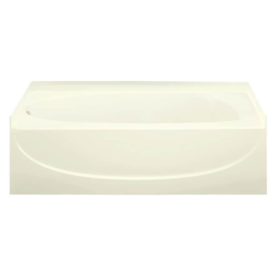Sterling Acclaim Biscuit Fiberglass and Plastic Composite Oval In Rectangle Skirted Bathtub with Left-Hand Drain (Common: 30-in x 60-in; Actual: 17.25-in x 30.5-in x 60.25-in)