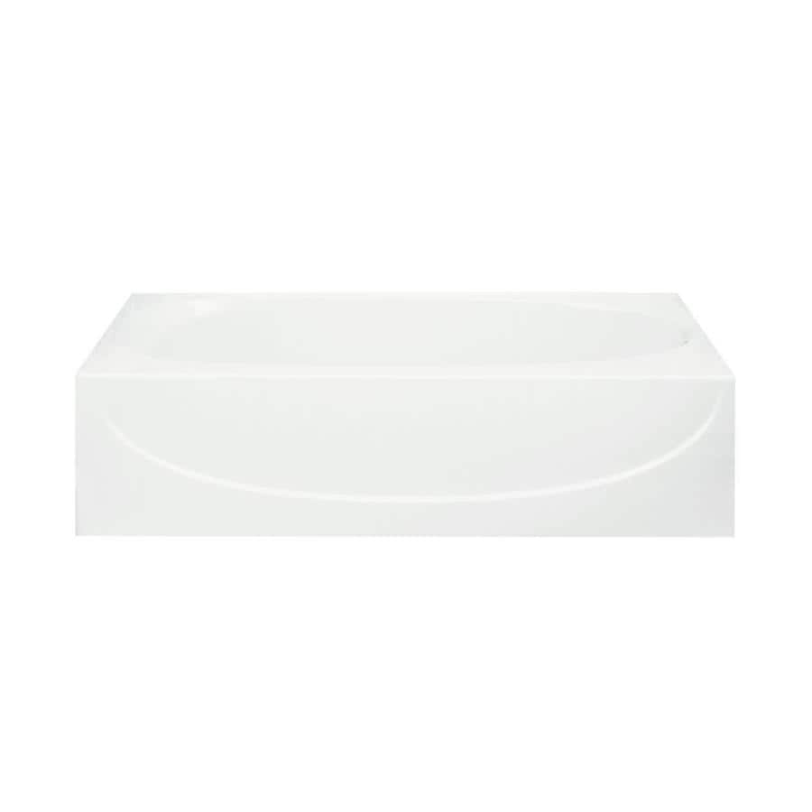 Sterling Acclaim White Fiberglass and Plastic Composite Oval In Rectangle Skirted Bathtub with Right-Hand Drain (Common: 30-in x 60-in; Actual: 17.25-in x 30.5-in x 60.25-in)