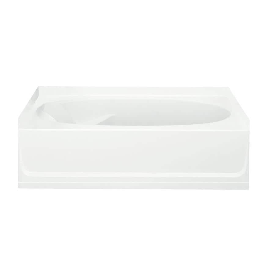 Sterling Ensemble White Fiberglass and Plastic Composite Oval In Rectangle Skirted Bathtub with Right-Hand Drain (Common: 36-in x 60-in; Actual: 18.25-in x 36-in x 60.25-in)