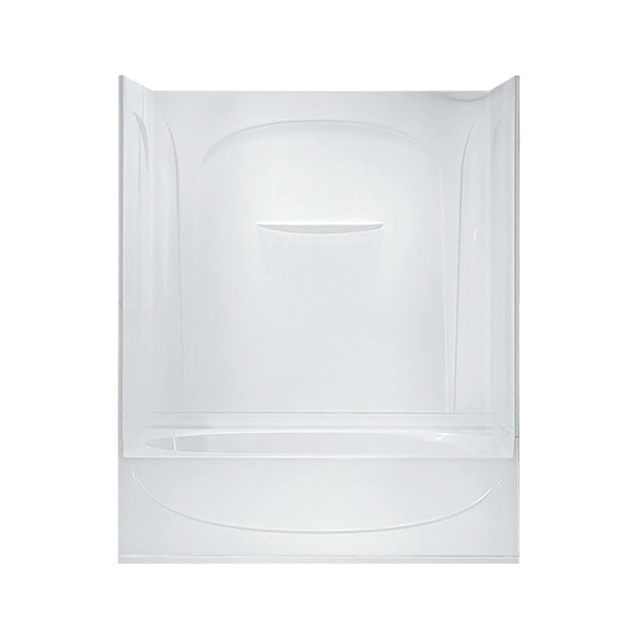 Sterling Acclaim White Vikrell Oval In Rectangle Skirted Bathtub with Left-Hand Drain (Common: 30-in x 60-in; Actual: 74.25-in x 30.5-in x 60.25-in)