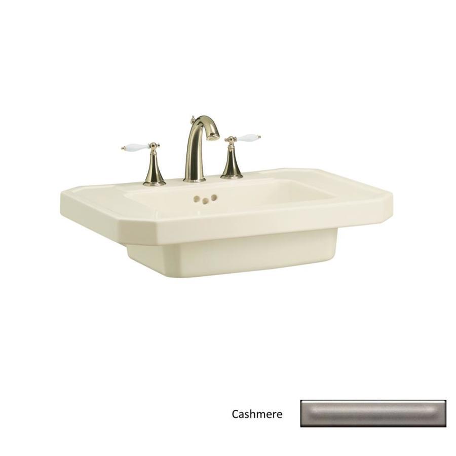 KOHLER 27-in L x 20-in W Cashmere Fire Clay Pedestal Sink Top