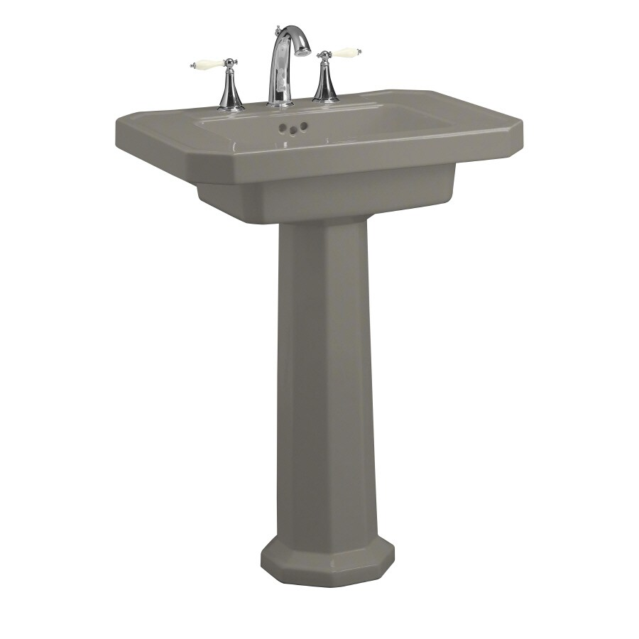 Kohler Pedestal Sink Lowes : ... KOHLER Kathryn 35-in H Cashmere Fire Clay Pedestal Sink at Lowes.com