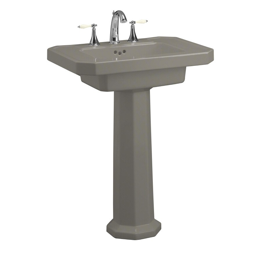 KOHLER Kathryn 35-in H Cashmere Fire Clay Pedestal Sink