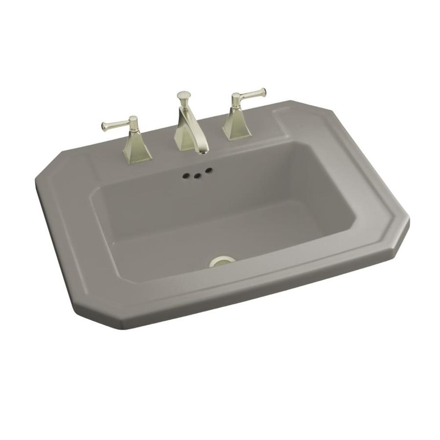 KOHLER Kathryn Cashmere Drop-in Rectangular Bathroom Sink with Overflow