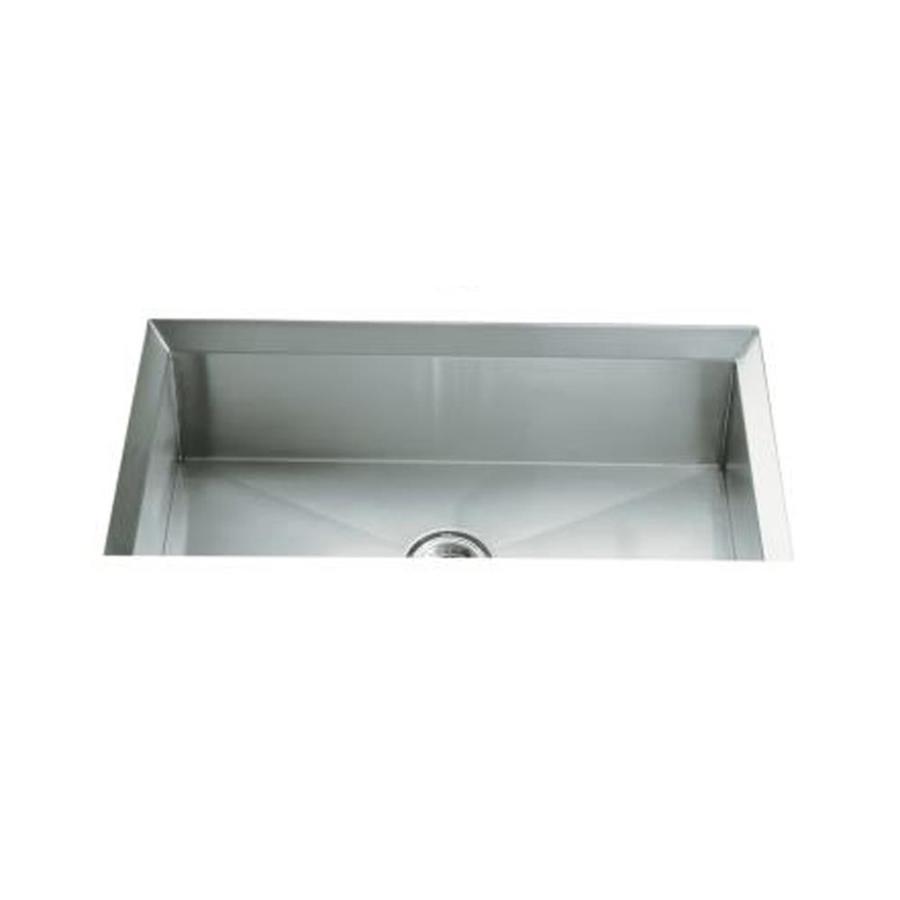 KOHLER Poise 18-in x 33-in Stainless Steel Single-Basin Stainless Steel Undermount Residential Kitchen Sink
