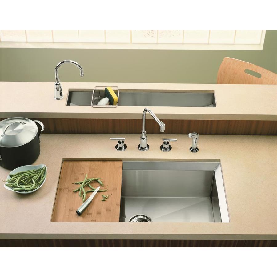 KOHLER Poise 18-in x 33-in Stainless Steel Single-Basin Undermount Residential Kitchen Sink