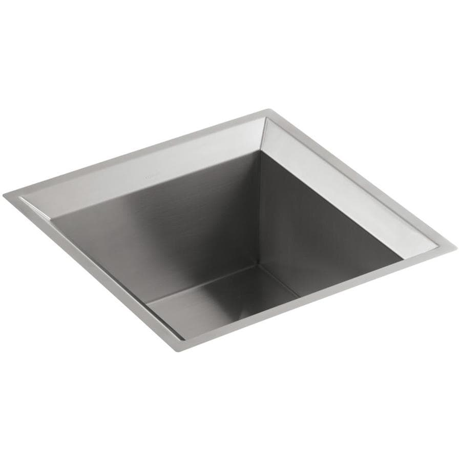 Kohler Stainless Sink : Shop KOHLER Poise Stainless Steel Undermount Commercial/Residential ...