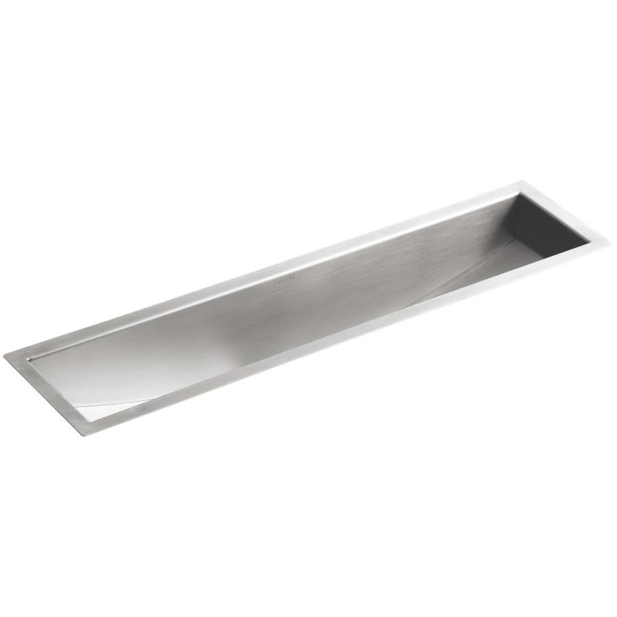 KOHLER Undertone Stainless Steel Undermount Commercial/Residential Prep Sink