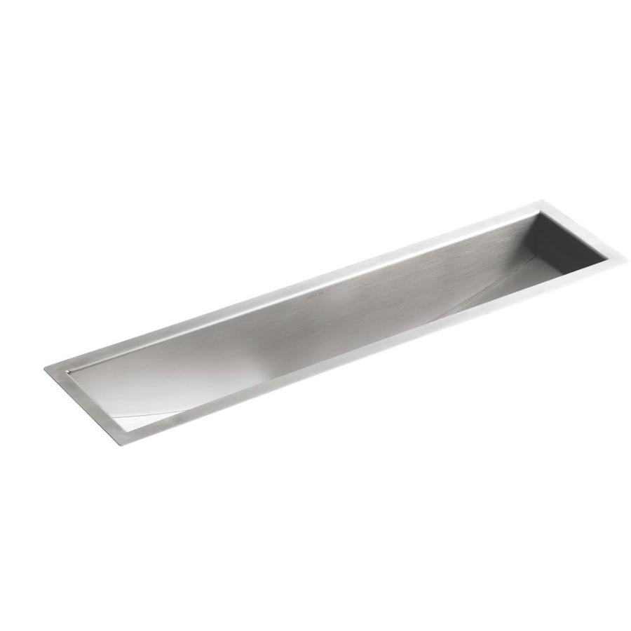 KOHLER Undertone 8.25-in x 33-in Stainless Steel Single-Basin Undermount Residential Kitchen Sink