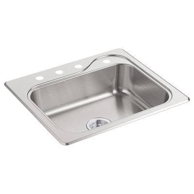 Sterling Southhaven 25-in x 22-in Satin Single-Basin Drop-In ...
