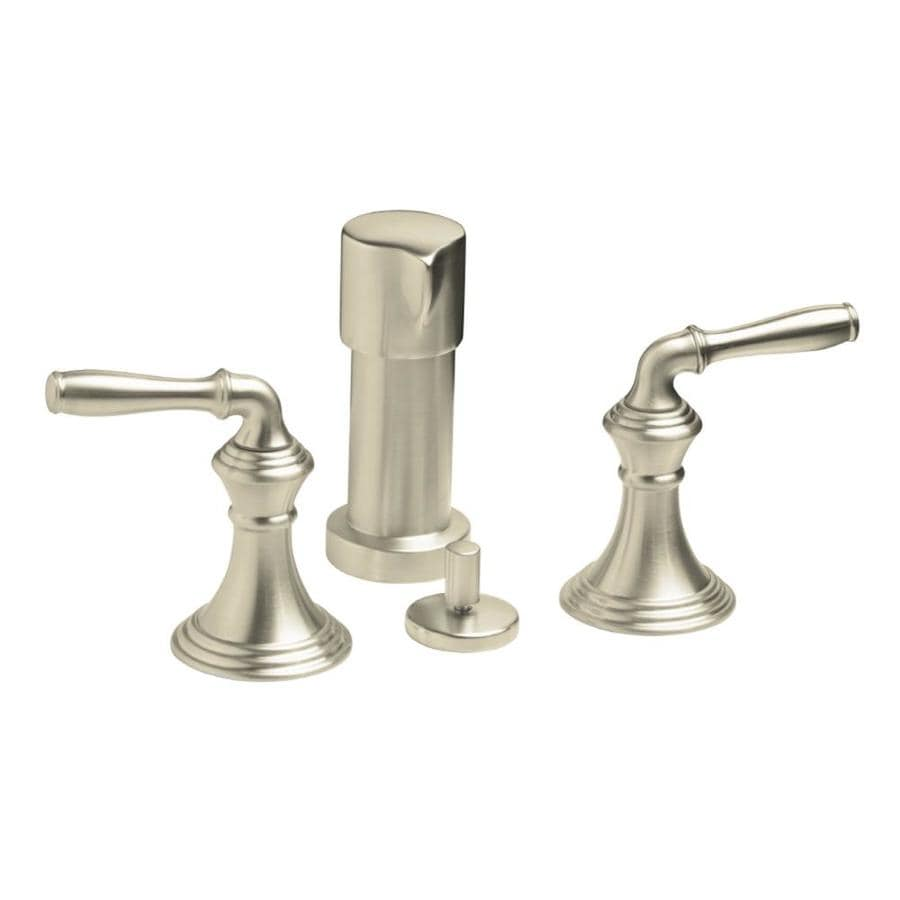 KOHLER Devonshire Vibrant Brushed Nickel Vertical Spray Bidet Faucet
