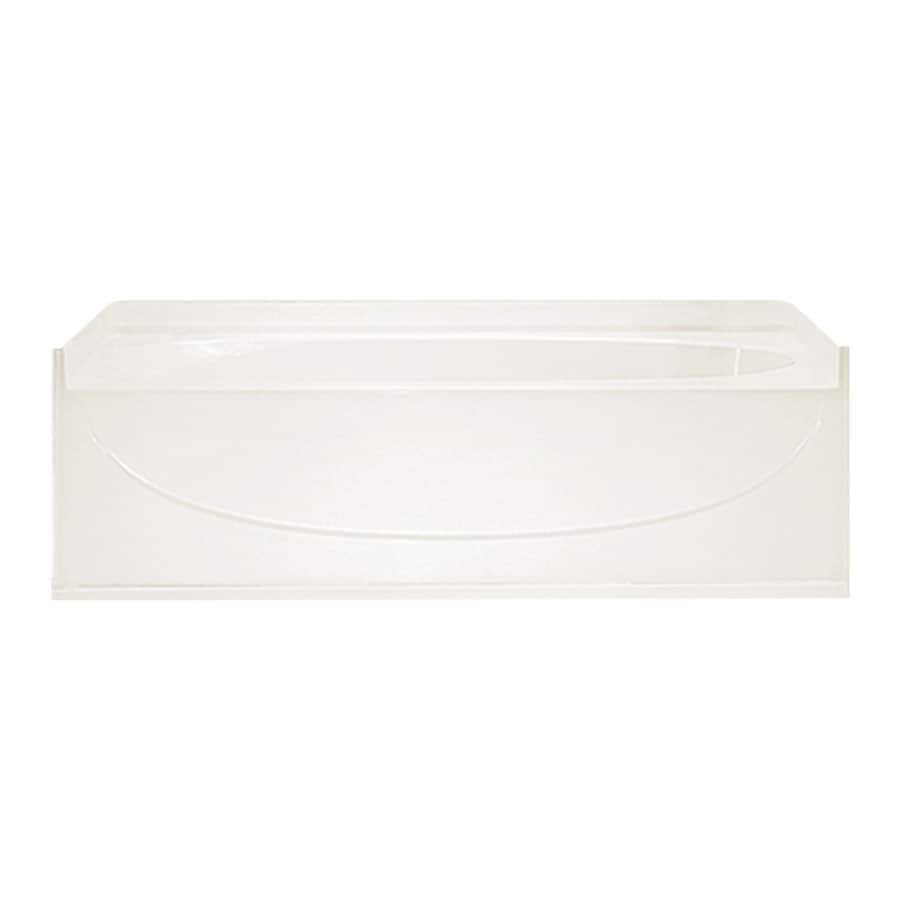 Sterling Acclaim Biscuit Fiberglass and Plastic Composite Oval In Rectangle Alcove Bathtub with Right-Hand Drain (Common: 30-in x 60-in; Actual: 17.25-in x 30-in x 60-in)