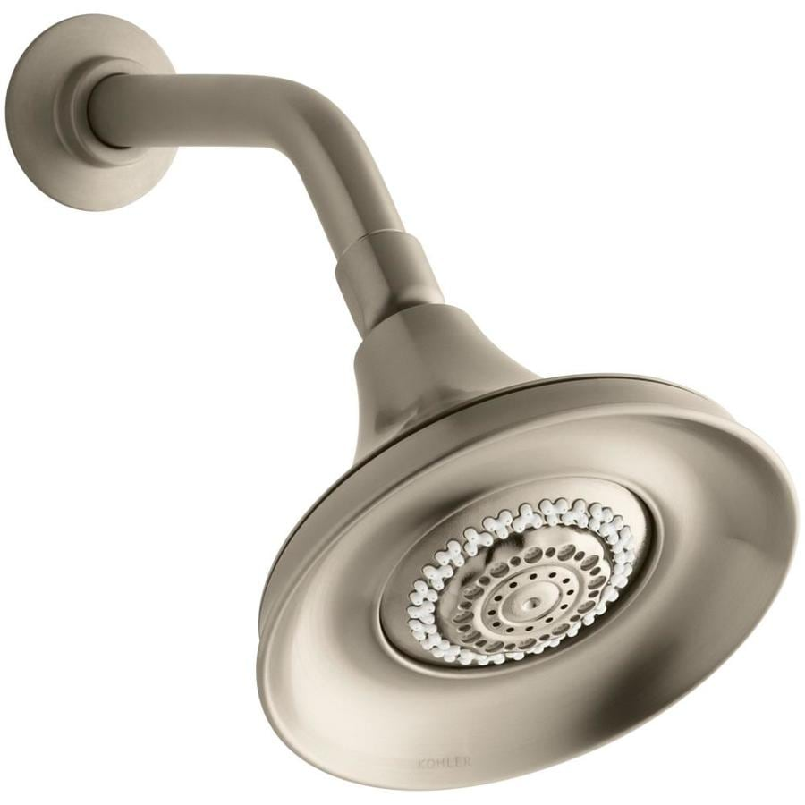 KOHLER Forte 5.9375-in 2.5-GPM (9.5-LPM) Vibrant Brushed Bronze 4-Spray Rain Showerhead