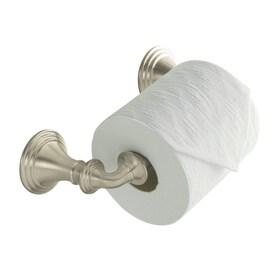Kohler Devonshire Vibrant Brushed Nickel Wall Mount Spring Loaded Toilet Paper Holder