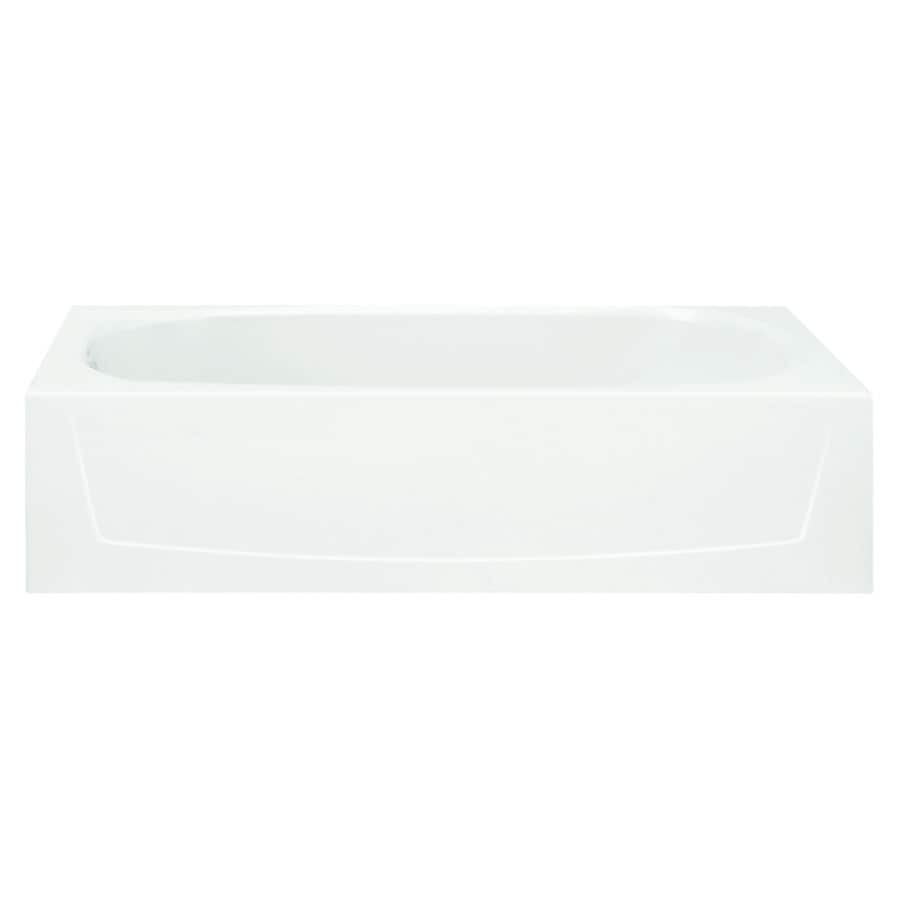 Sterling Performa 60.25-in White Vikrell Skirted Bathtub with Left-Hand Drain