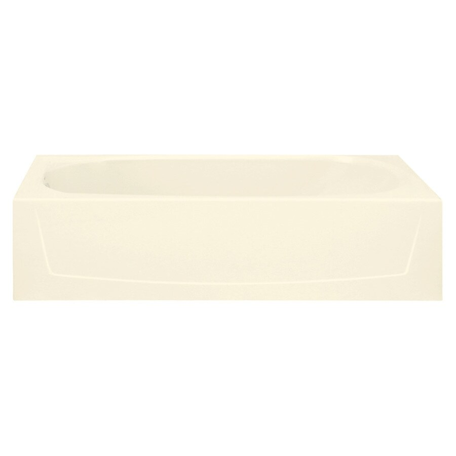 Sterling Performa 60.25-in Biscuit Vikrell Alcove Bathtub with Left-Hand Drain