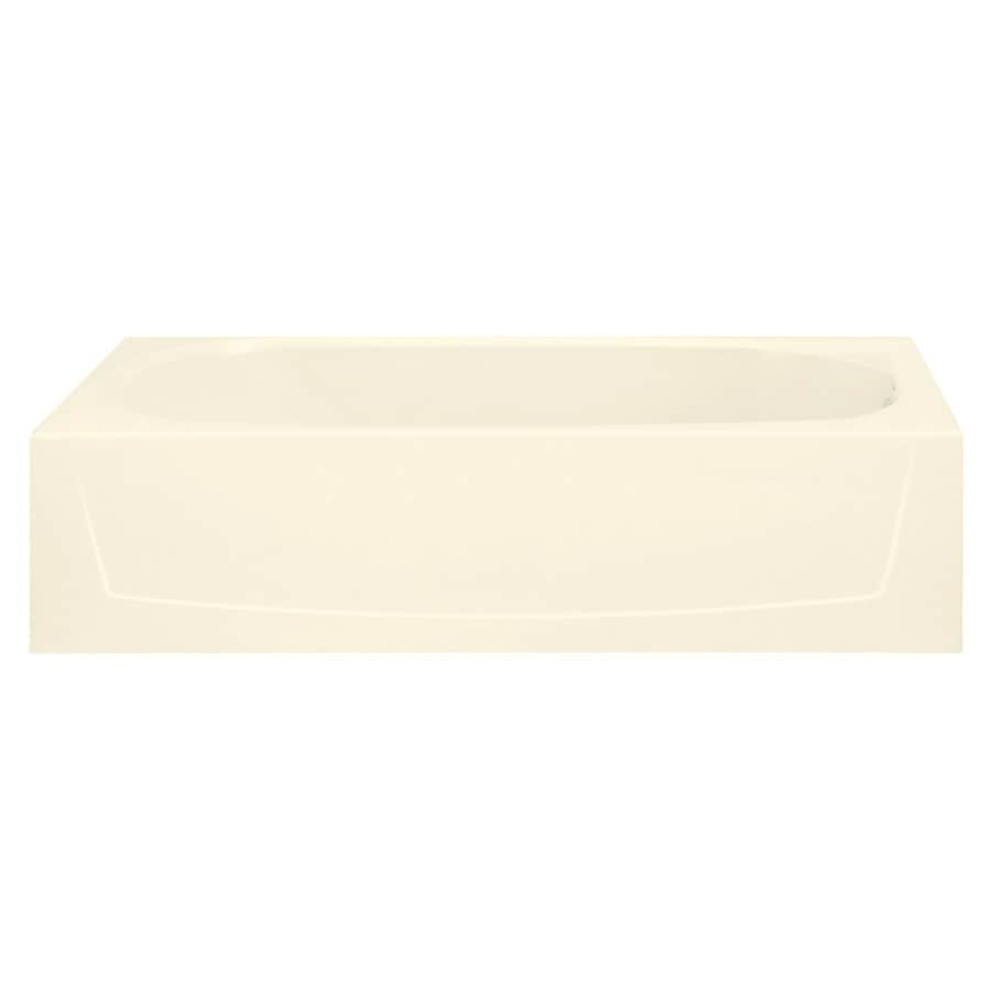 Sterling Performa Biscuit Vikrell Oval In Rectangle Skirted Bathtub with Right-Hand Drain (Common: 29-in x 60-in; Actual: 17.2500-in x 29-in x 60.2500-in)