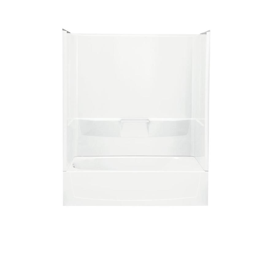 Sterling Performa White Fiberglass and Plastic Composite Oval In Rectangle Skirted Bathtub with Left-Hand Drain (Common: 29-in x 60-in; Actual: 77.75-in x 29-in x 60.25-in)