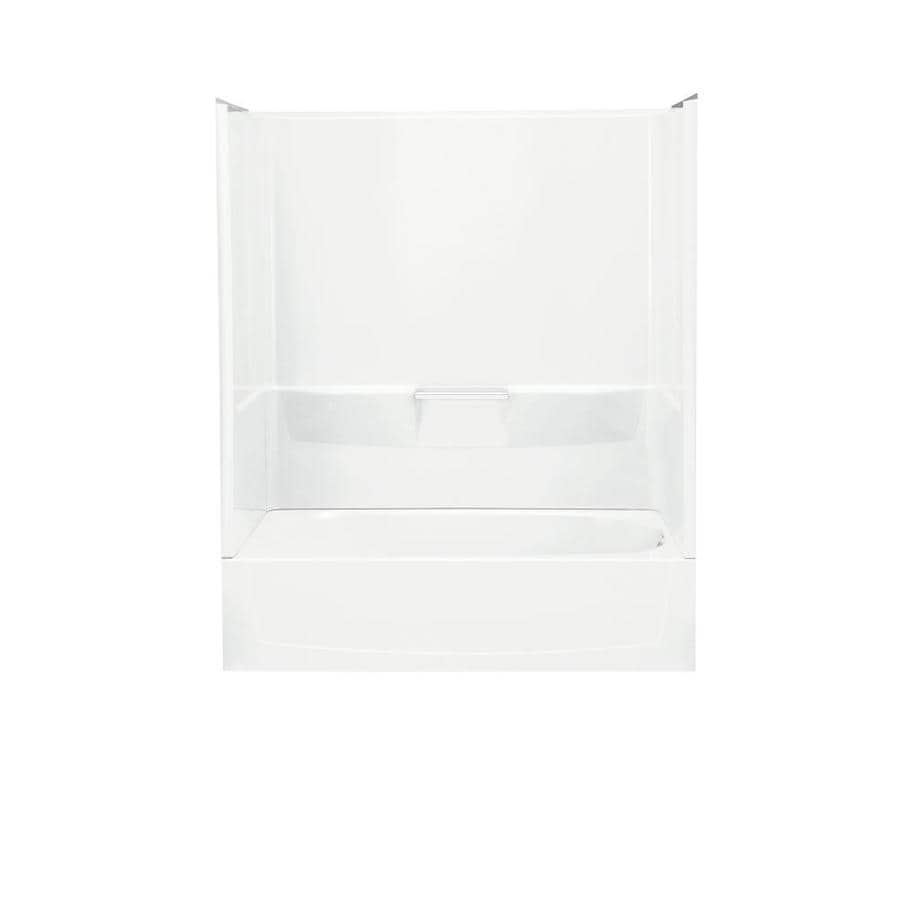 Sterling Performa 60.25-in White Vikrell Skirted Bathtub with Right-Hand Drain