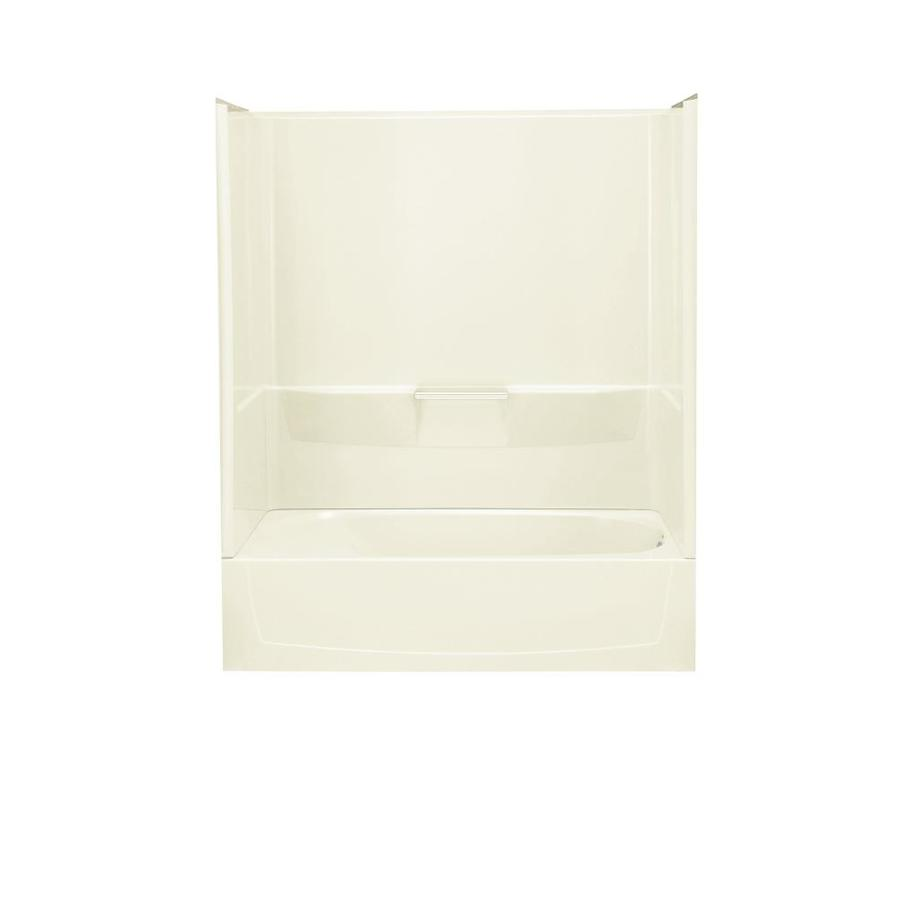 Sterling Performa 60.25-in Biscuit Vikrell Alcove Bathtub with Right-Hand Drain