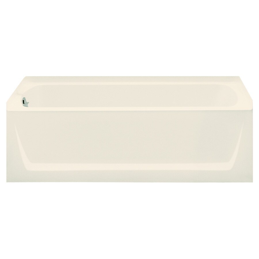 Sterling Ensemble Biscuit Fiberglass and Plastic Composite Rectangular Skirted Bathtub with Left-Hand Drain (Common: 32-in x 60-in; Actual: 18-in x 32-in x 60.25-in)