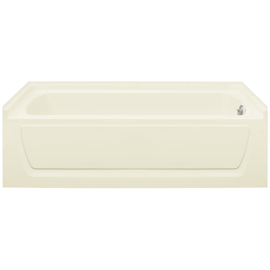 Sterling Ensemble 60-in Biscuit Vikrell Alcove Whirlpool Tub with Right-Hand Drain