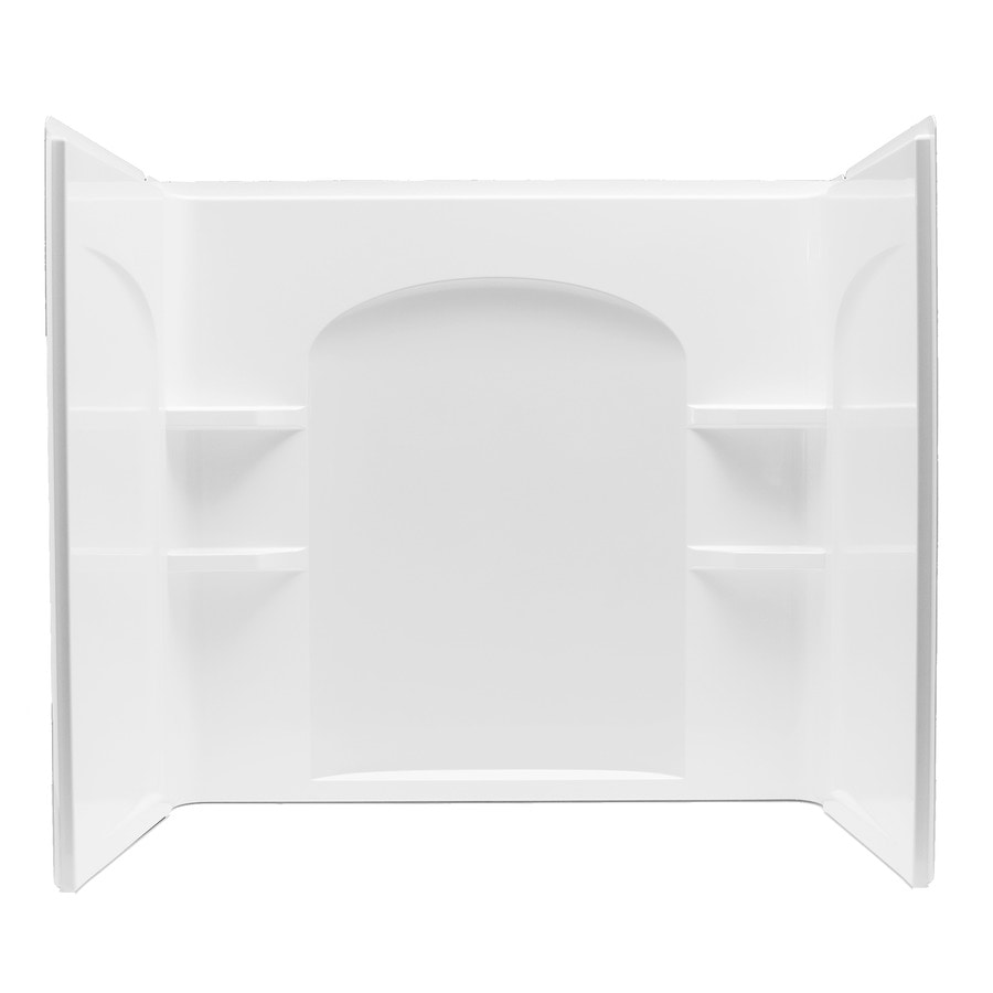 Sterling Ensemble White Vikrell Bathtub Wall Surround (Common: 33-in x 60-in; Actual: 55.25-in x 33.25-in x 60-in)