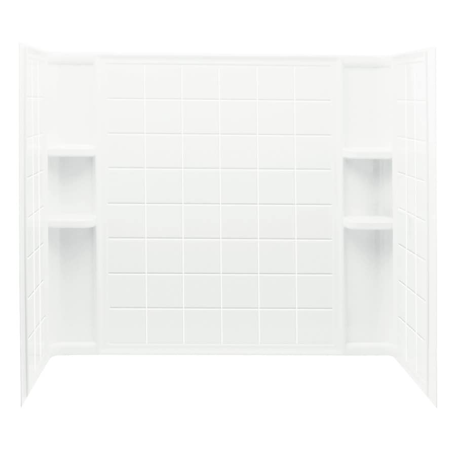 Sterling Ensemble White Vikrell Bathtub Wall Surround