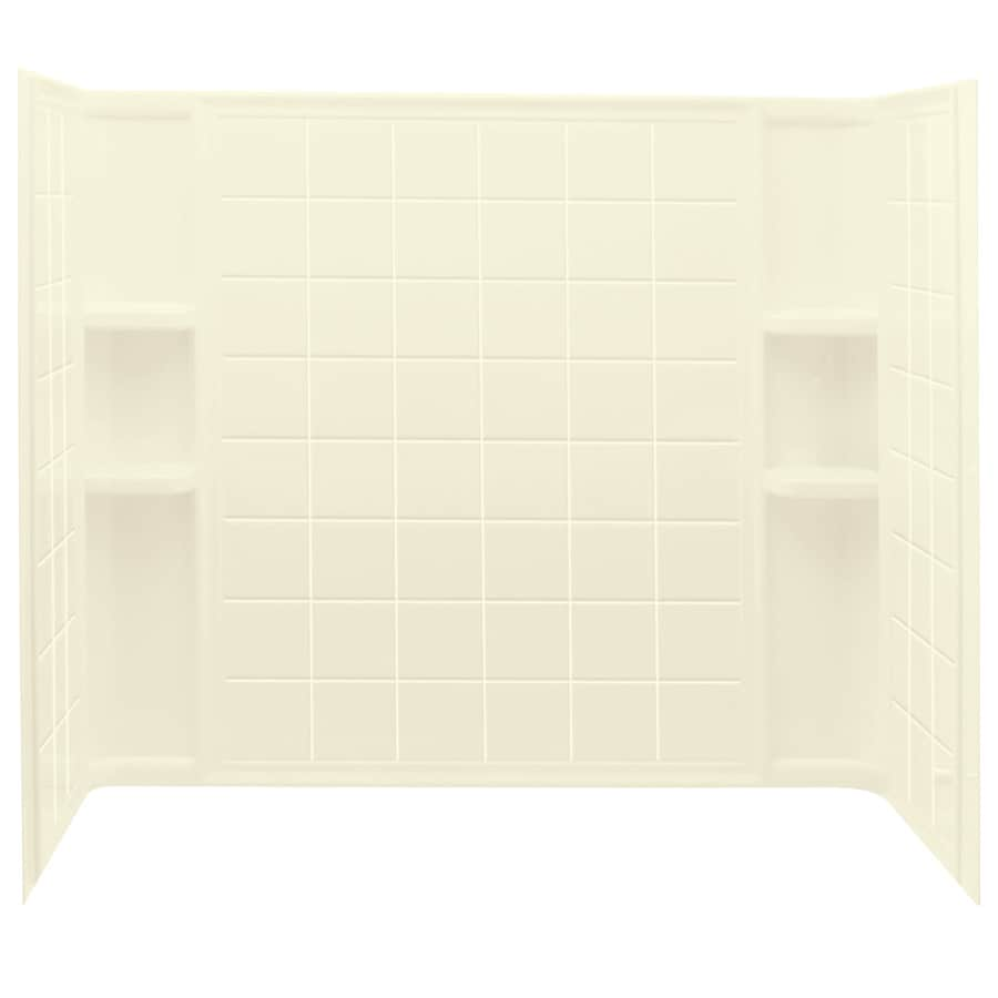 Sterling Ensemble Biscuit Vikrell Bathtub Wall Surround (Common: 33-in x 60-in; Actual: 54-in x 33.25-in x 60-in)