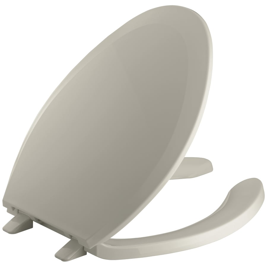 KOHLER Reveal Plastic Elongated Toilet Seat