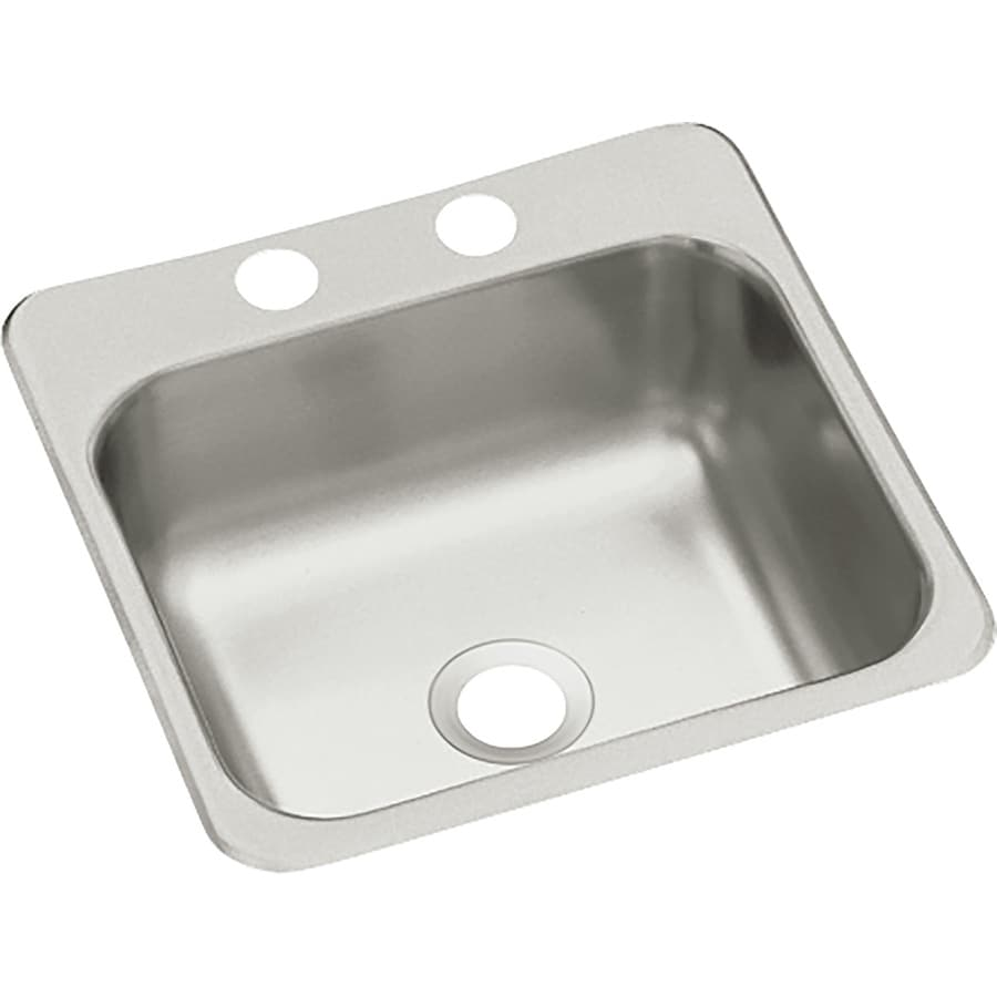 Sterling Secondary Sink Stainless 2-Hole Stainless Steel Drop-in Commercial/Residential Prep Sink