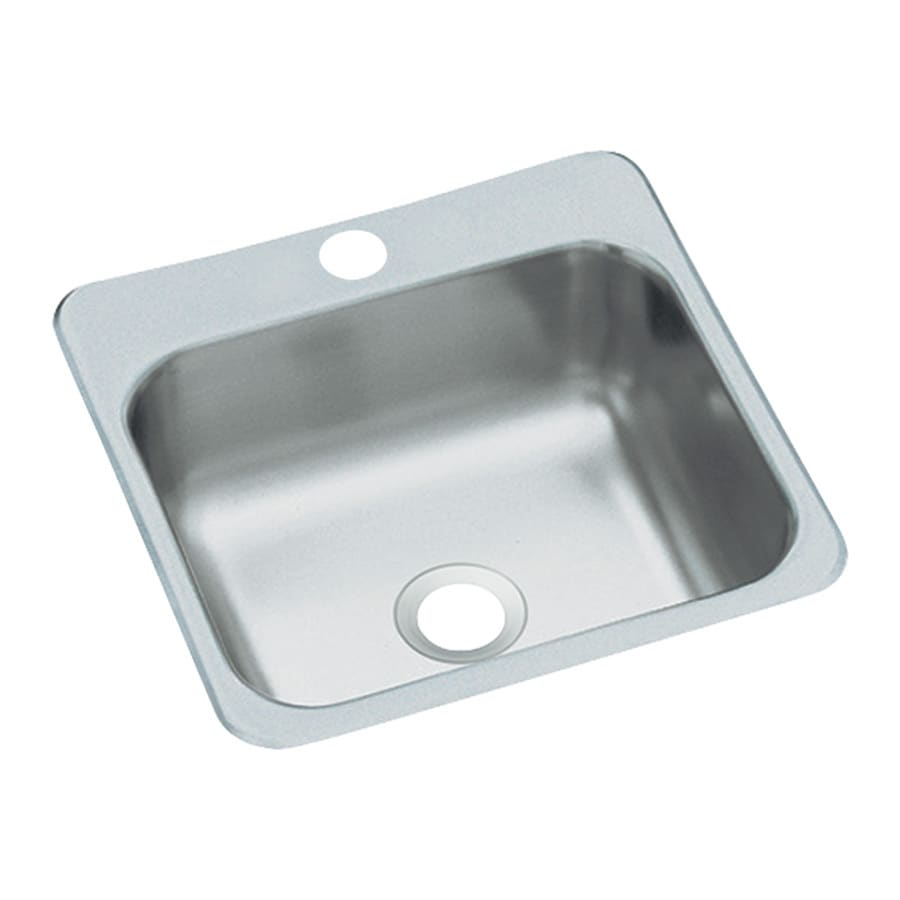 Sterling Stainless steel Single-Basin 1-Hole Drop-In Residential Bar Sink