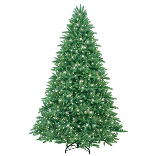 GE 7-1/2' Easy Shape Fraser Fir Artificial Christmas Tree ...