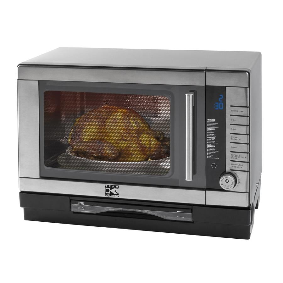 Kalorik 0 9 Cu Ft 1500 Watt Silver Countertop Microwave