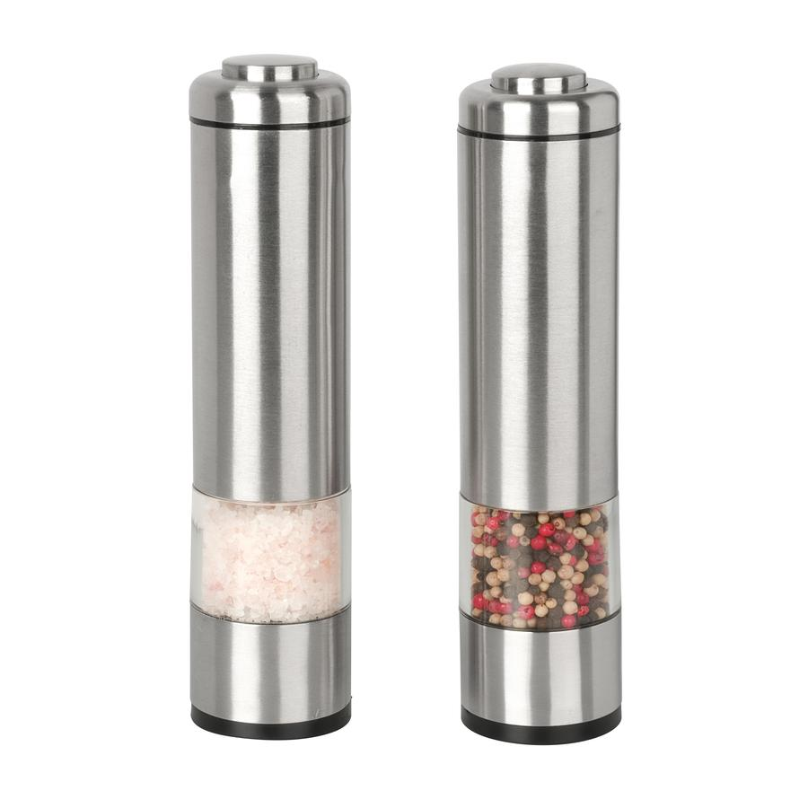 shop kalorik stainless steel salt and pepper grinder set. Black Bedroom Furniture Sets. Home Design Ideas