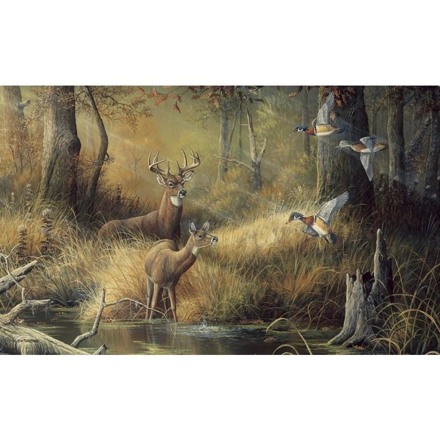 Shop environmental graphics october memories mural at for Deer mural wallpaper