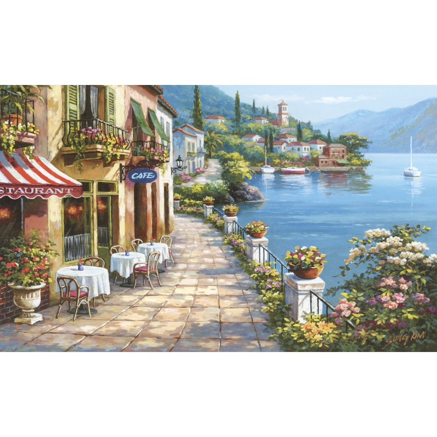 Environmental Graphics Overlook Cafe Wall Mural