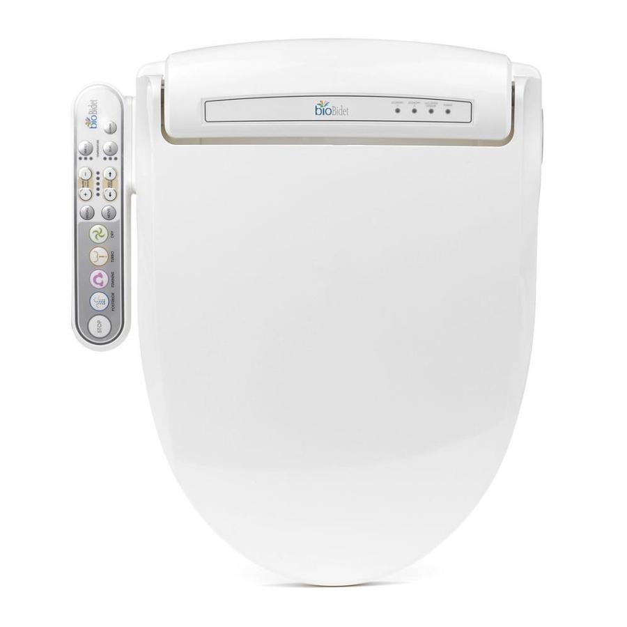 Bio Bidet Plastic Elongated Slow-Close Heated Bidet Toilet Seat