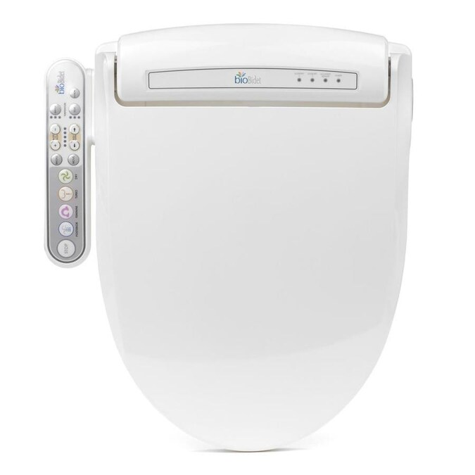 Bio Bidet White Round Slow Close Heated Bidet Toilet Seat In The Toilet Seats Department At Lowes Com