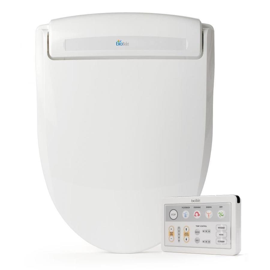 Bio Bidet Plastic Elongated Slow-Close Heated Bidet Toilet Seat