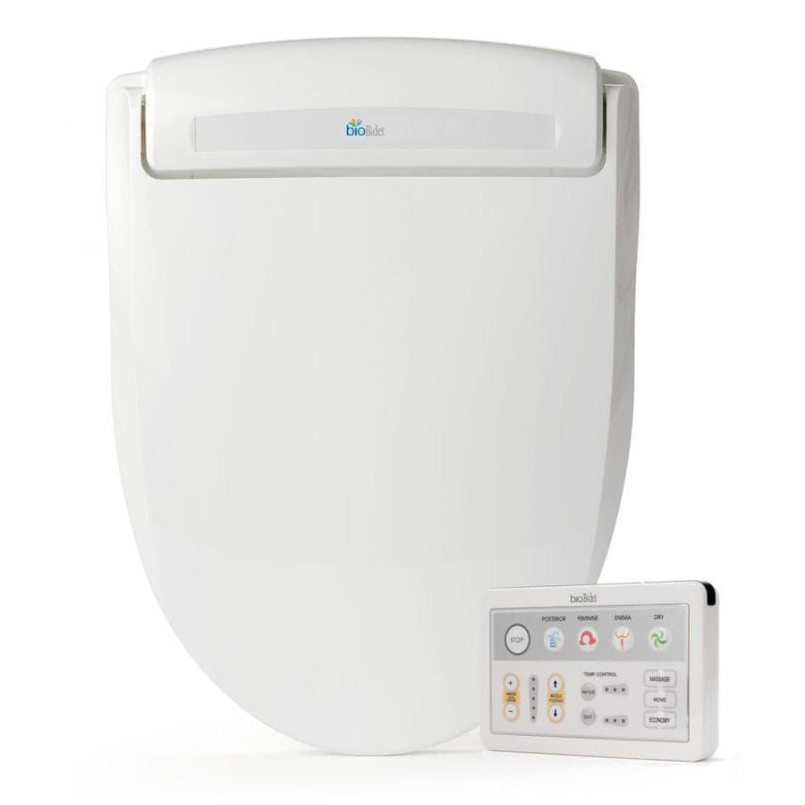 Bio Bidet Plastic Round Slow-Close Heated Bidet Toilet Seat