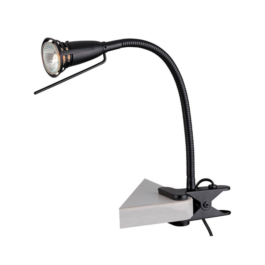 Metal Clip On Lamp Shade: Lite Source 18-in Adjustable Black Clip-On Desk Lamp With