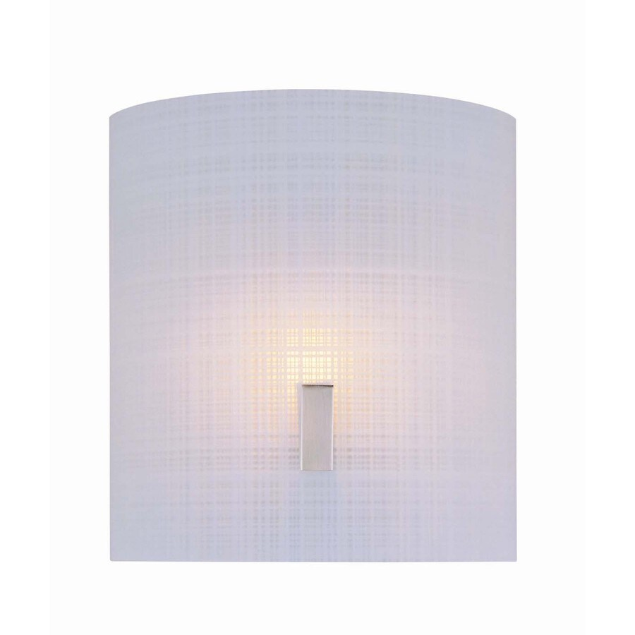 Lite Source Nimbus Ii 7-in W 1-Light Steel-Painted Pocket Hardwired Wall Sconce