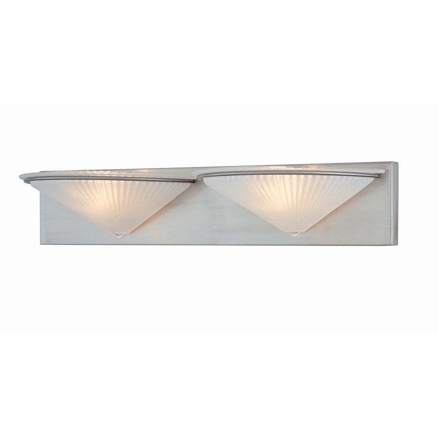 Shop Lite Source Damon 2-Light 25.5-in Frost glass shade Vanity ...