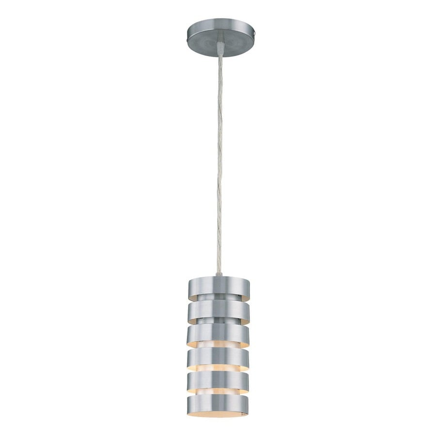 Lite Source Tendril 4.5-in Aluminum Industrial Mini Cylinder Pendant