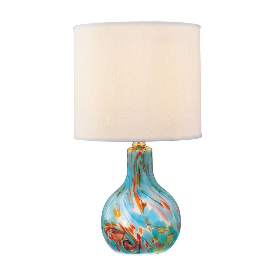 com cascade table dp coast pacific lamp lighting aqua in turquoise amazon
